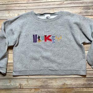 Vintage Disney Mickey & Co Cropped Sweatshirt